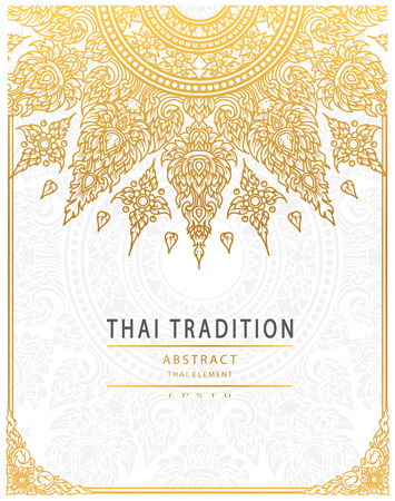 Thai art element Traditional gold cover