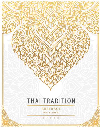 Thailändisches Kunstelement Traditionelle Golddeckung