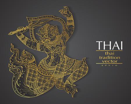 Thai-Kunst-Element Traditionelle Gold für Grußkarten