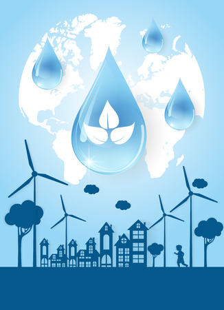 Concept Save Water is Life. Ilustrace