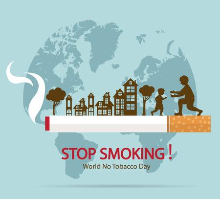 World No Tobacco Day Concept.
