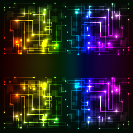 impulse: Colorful Abstract futuristic modern hi-tech glowing background illustration