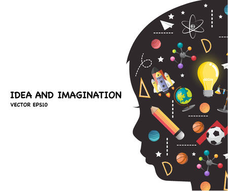 concept of education of children. the generation of knowledge.vector