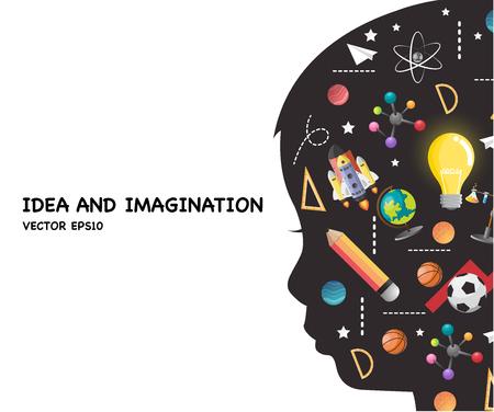 concetto di educazione dei bambini. la generazione di knowledge.vector