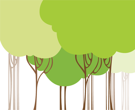 trees nature background vector banner