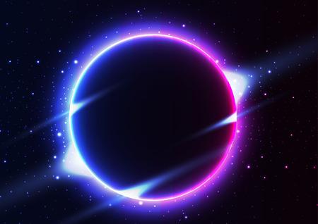 solar eclipse Night sky constellations.star.vector Çizim