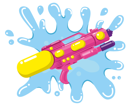 water gun for songkran festival of Thailand new years. Vector 矢量图像