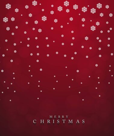 Merry Christmas,New year card and glitter decoration. red background with snowflake.Vector illustration.
