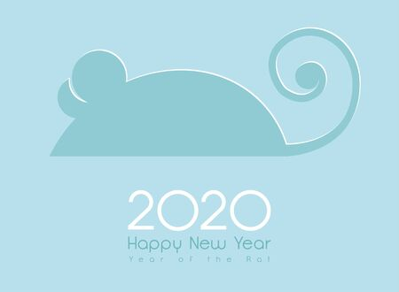 Rat for 2020 Chinese New Year.greeting card and calendar design. Vector
