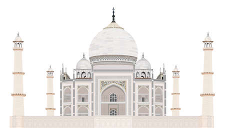 Vector illustration of Taj Mahal of India