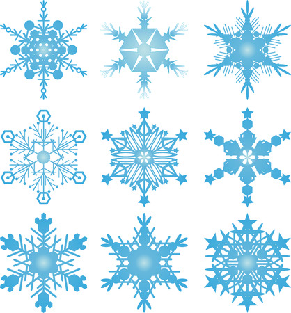 winter wonderland: Snowflake vectors