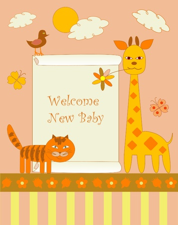 New baby arrived  Vector