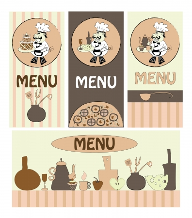 cheese cake: set menus for cafes, restaurants  Illustration