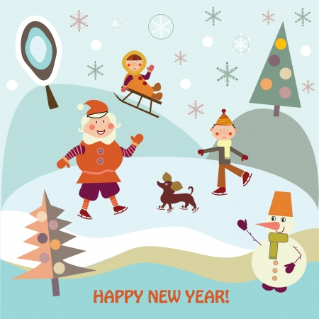 New Year s holiday Stock Vector - 15622317
