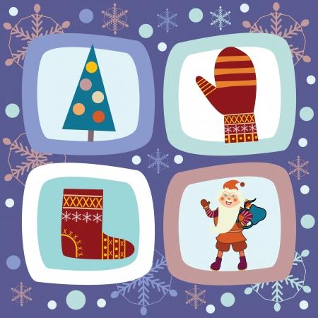 Christmas card on a dark background