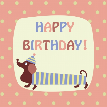 dachshund: card with a dachshund