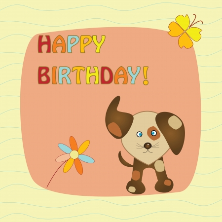 card with dog Vector