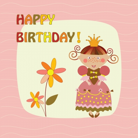 greeting card with a princess