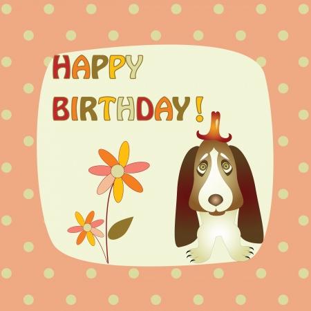 basset hound: tarjeta de felicitaci�n con un Basset Hound