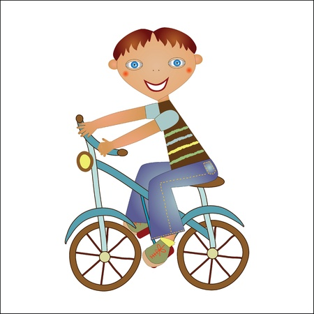 boy on a bike Illustration