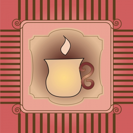 card with cup Illustration