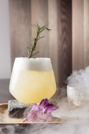 cocktail with dry ice