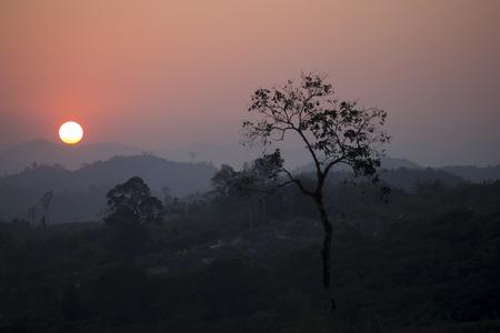 Sunset near the mountain Stock fotó