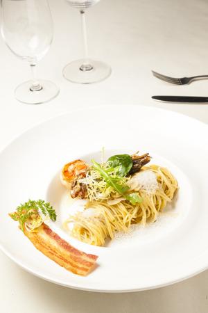 Pasta with shrim Stock fotó