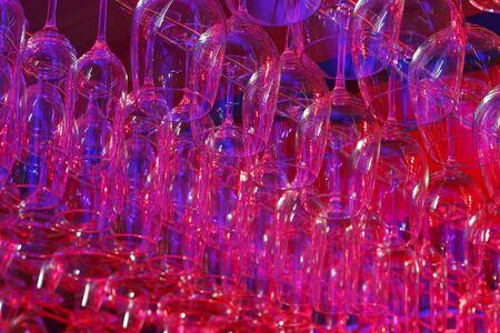 various glasses hanging Stock fotó