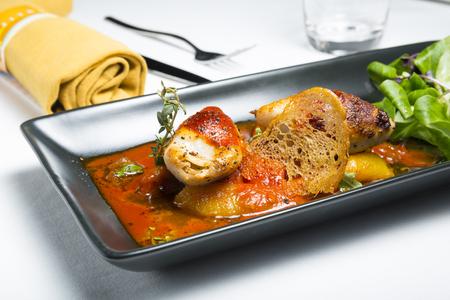 spicy roast squid on dinding table Stock fotó