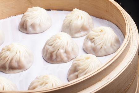 Many Xiao Long Bao serve in basket
