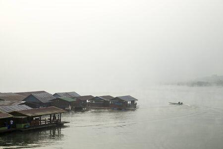 Landscape in river at morning time