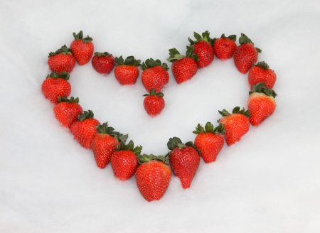 Strawberry Valentine Heart photo