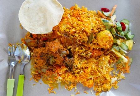 mutton: Mutton Biryani Curry and Rice Stock Photo