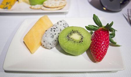 fruit: Luxury sliced Fruit Plate Stock Photo