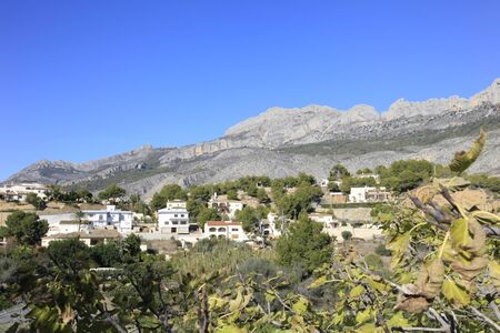 altea: Village of Altea in the foothills of the coastal mountains of southern Spain