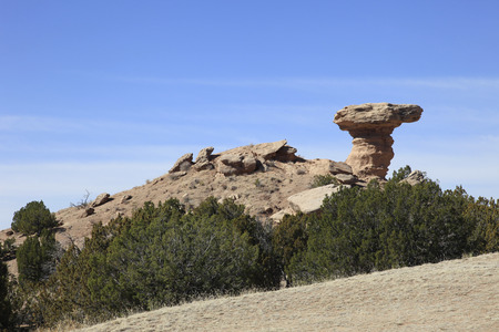 Camel Rock is a geological formation resembling and aptly named Camel Rock in New Mexico