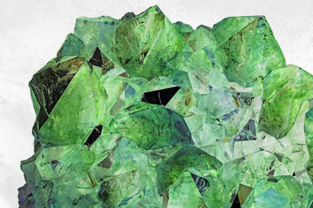 gemology: Beautiful Green Crystals Stock Photo