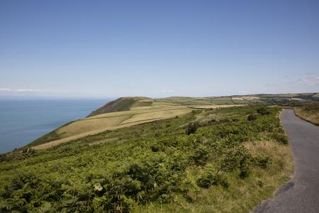 devon: Coastal road North Devon England