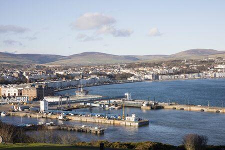 Ferry Terminal and docks Douglas Isle of Man British Isles