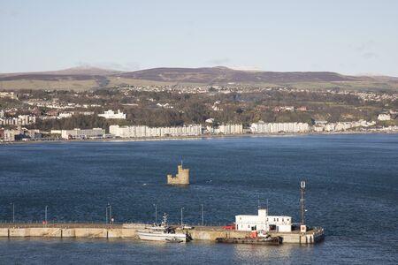 british man: Ferry Terminal and docks Douglas Isle of Man British Isles