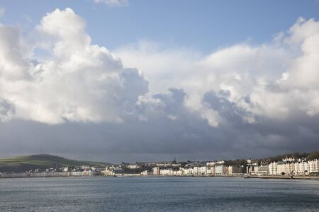 british isles: Storms over Douglas Bay Isle of Man British Isles Stock Photo