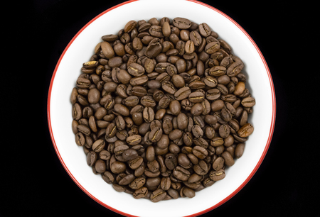 Delicious aromatic roasted coffee beans Stock Photo