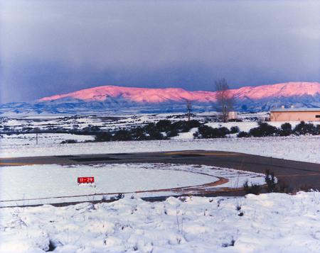 Sunset on snowy peaks of Mingus Mountain Prescott Arizona USA Banque d'images - 115343444