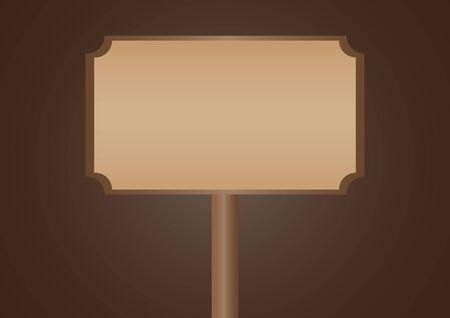 brown: brown sign Illustration