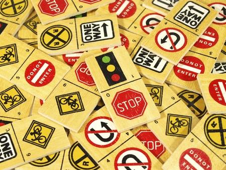 Traffic stop dominoes