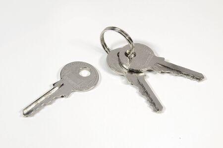 Keys on white background Stock Photo - 12454336
