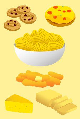 fat food: Trans Fat Food Illustration