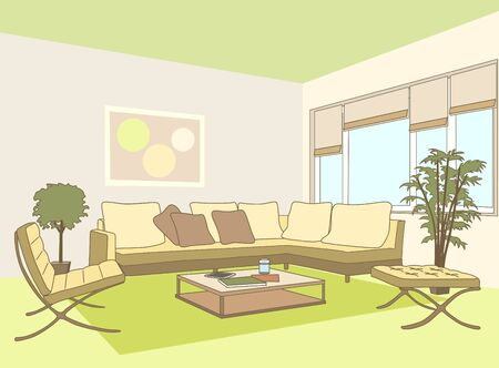 contemporary living room: Contemporary Living Room with Sofa