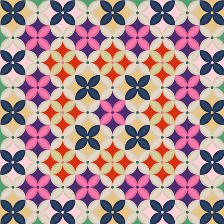 Korean patchwork wrapping cloth pattern Illustration